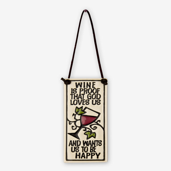Spooner Creek: Wine Tag Tiles: Wine is Proof That God Loves Us