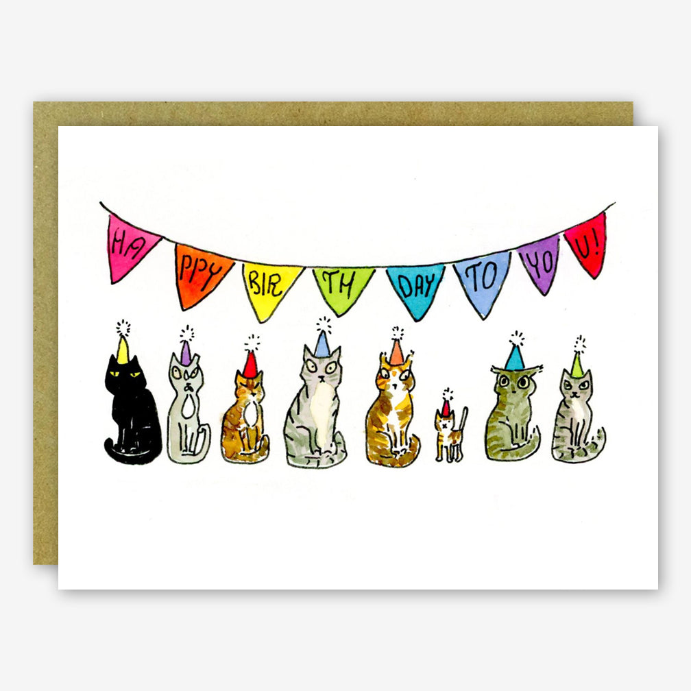 SquidCat, Ink Birthday Card: Cats