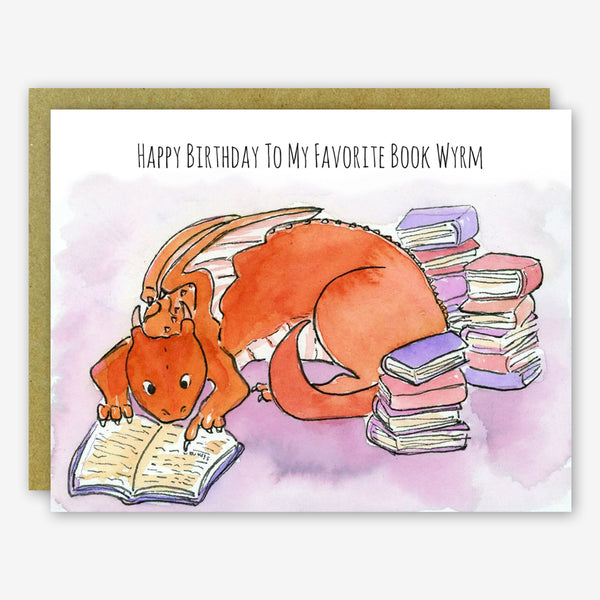SquidCat, Ink Birthday Card: Book Wyrm