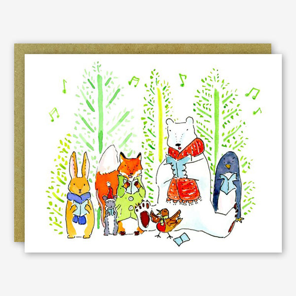 SquidCat, Ink Christmas Card: Christmas Carolers