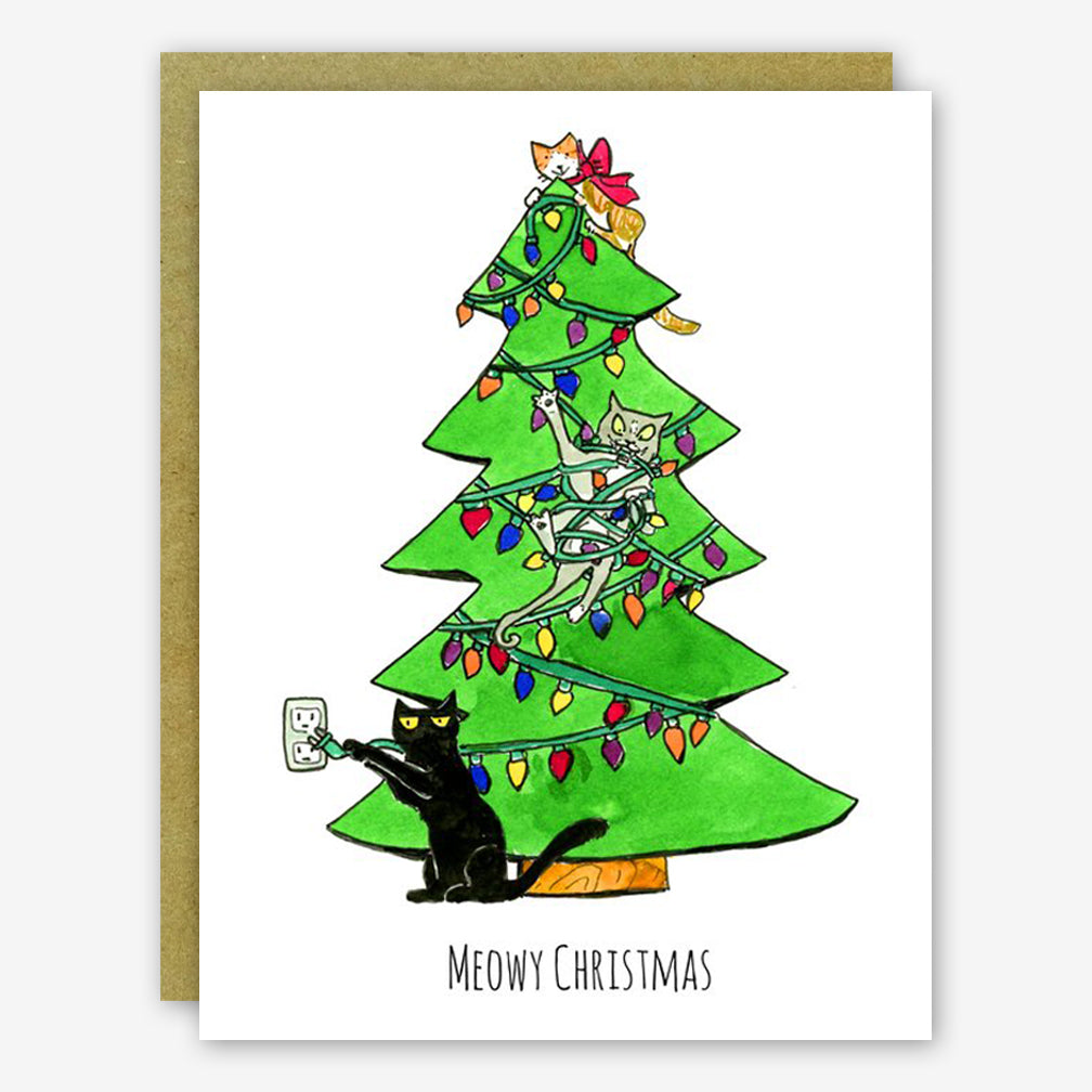 SquidCat, Ink Christmas Card: Meowy Christmas