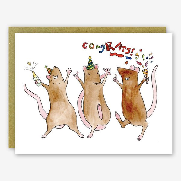 SquidCat, Ink Congratulations Card: CongRATS