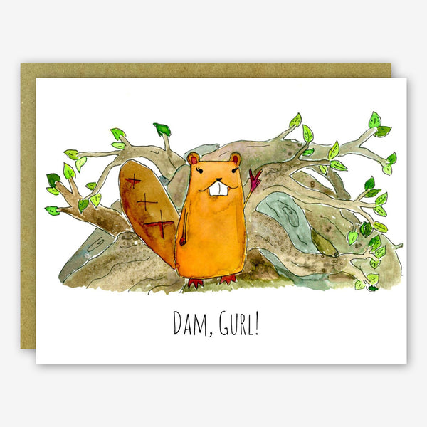 SquidCat, Ink Congratulations Card: Dam Gurl