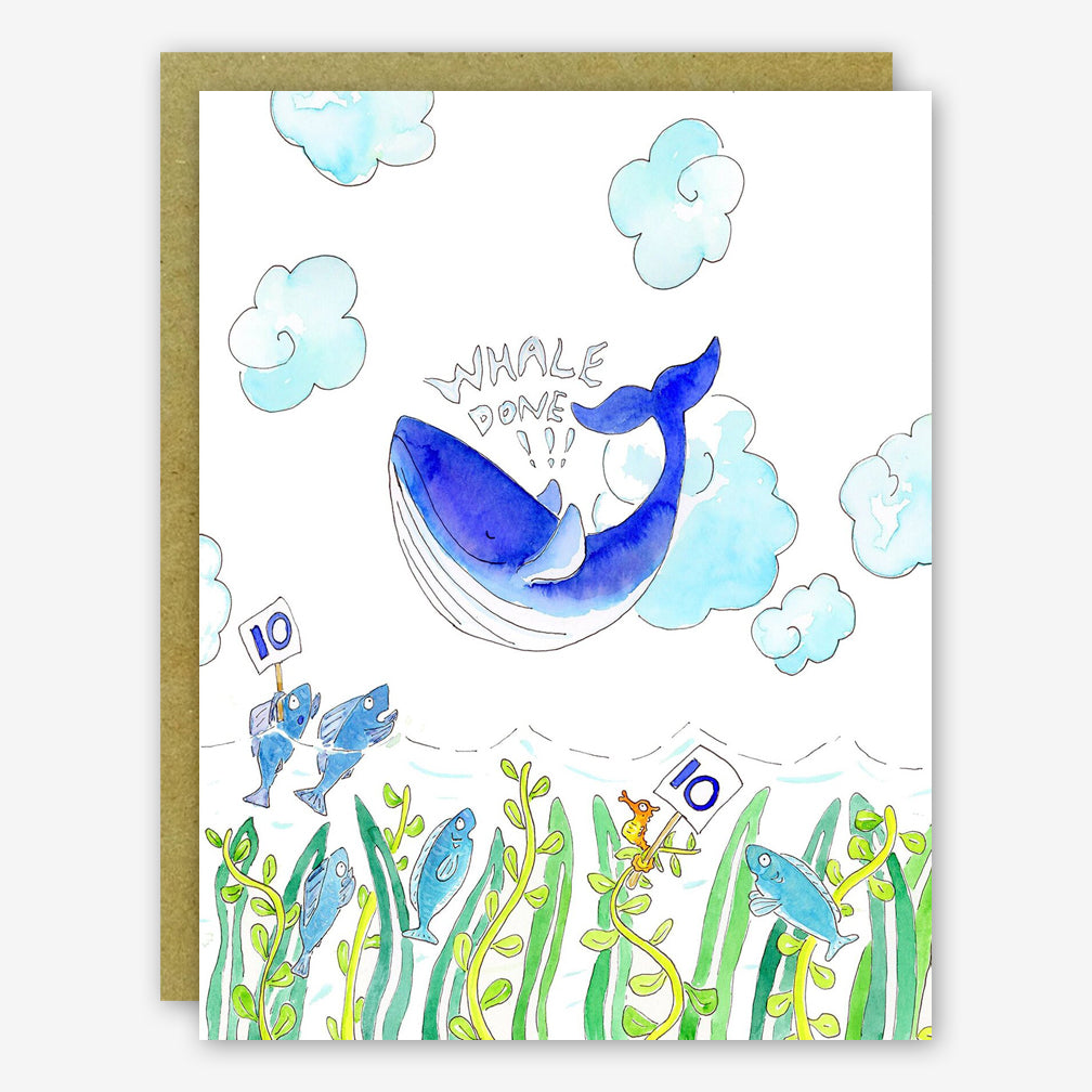 SquidCat, Ink Congratulations Card: Whale Done