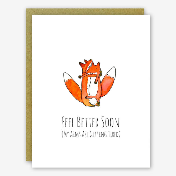 SquidCat, Ink Get Well Card: Fox Hug