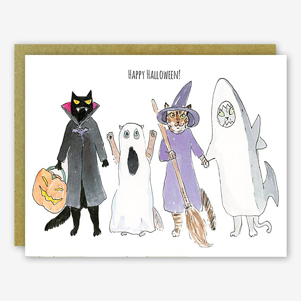 SquidCat, Ink Halloween Card: Kitty Costumes