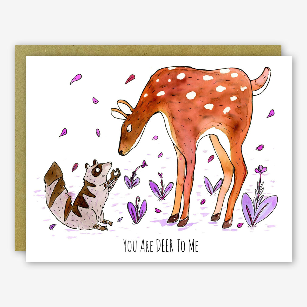 SquidCat, Ink Love Card: You Are Deer