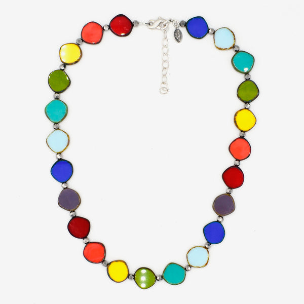 Stefanie Wolf Designs: Necklace: Full Circle, Small Rainbow Mix