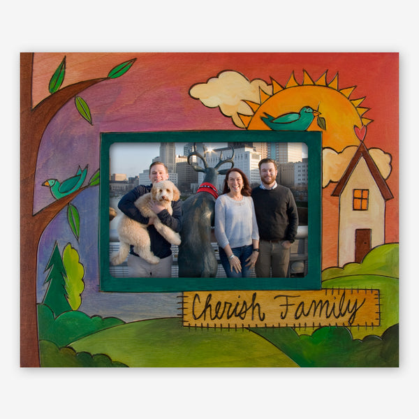 Sticks: 5x7 Photo Frame: Cherish Family (Birds)