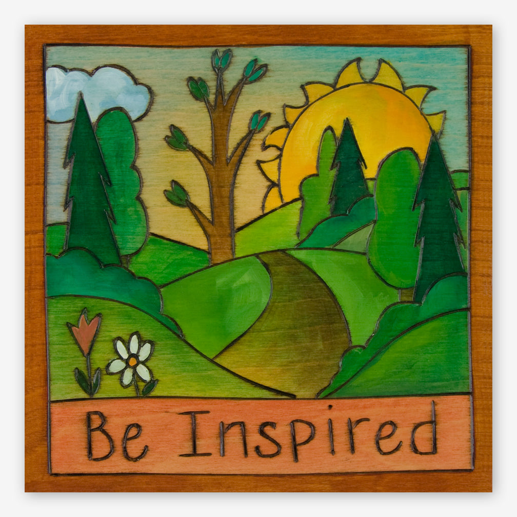Sticks: Small Plaque: Be Inspired