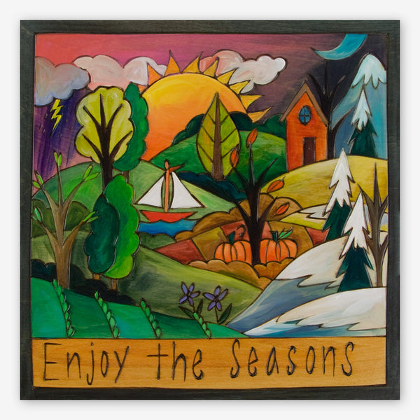Sticks: Large Plaque: Enjoy the Seasons
