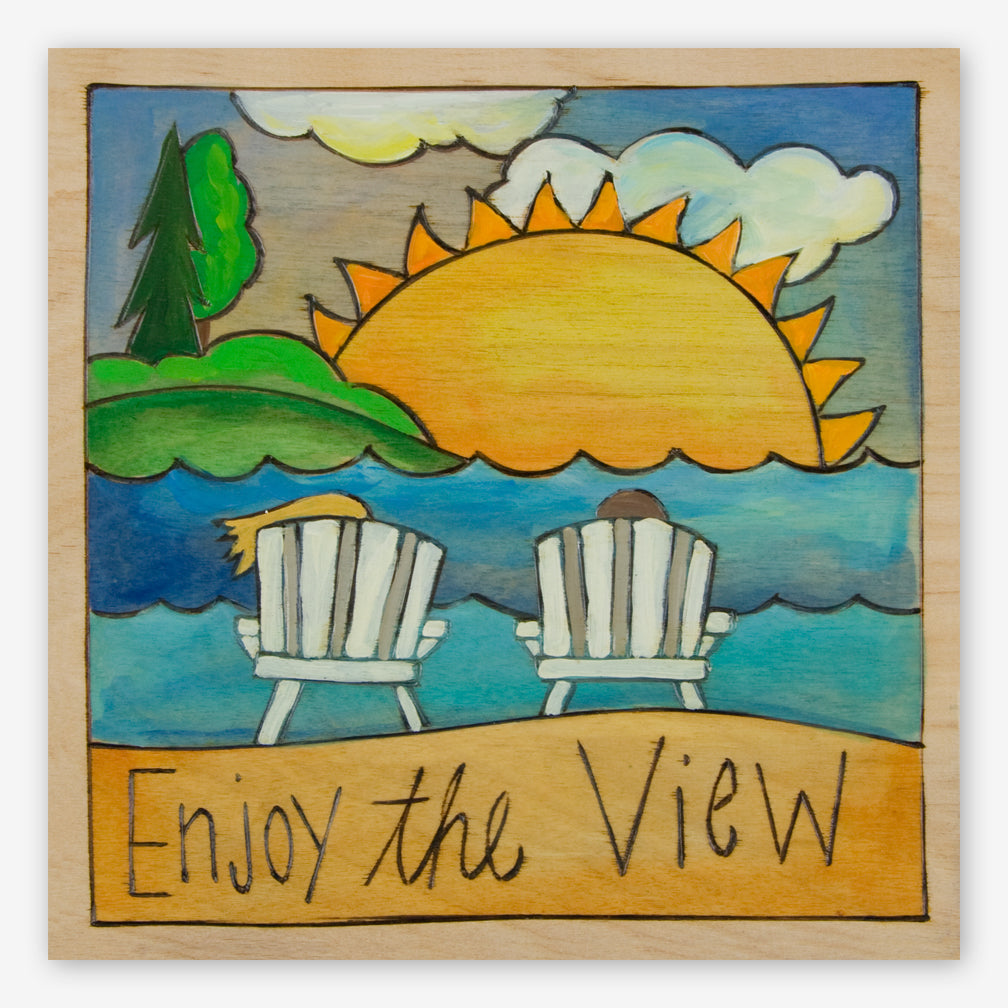 Sticks: Small Plaque: Enjoy the View