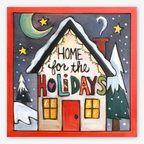 Sticks: Small Plaque: Home for the Holidays