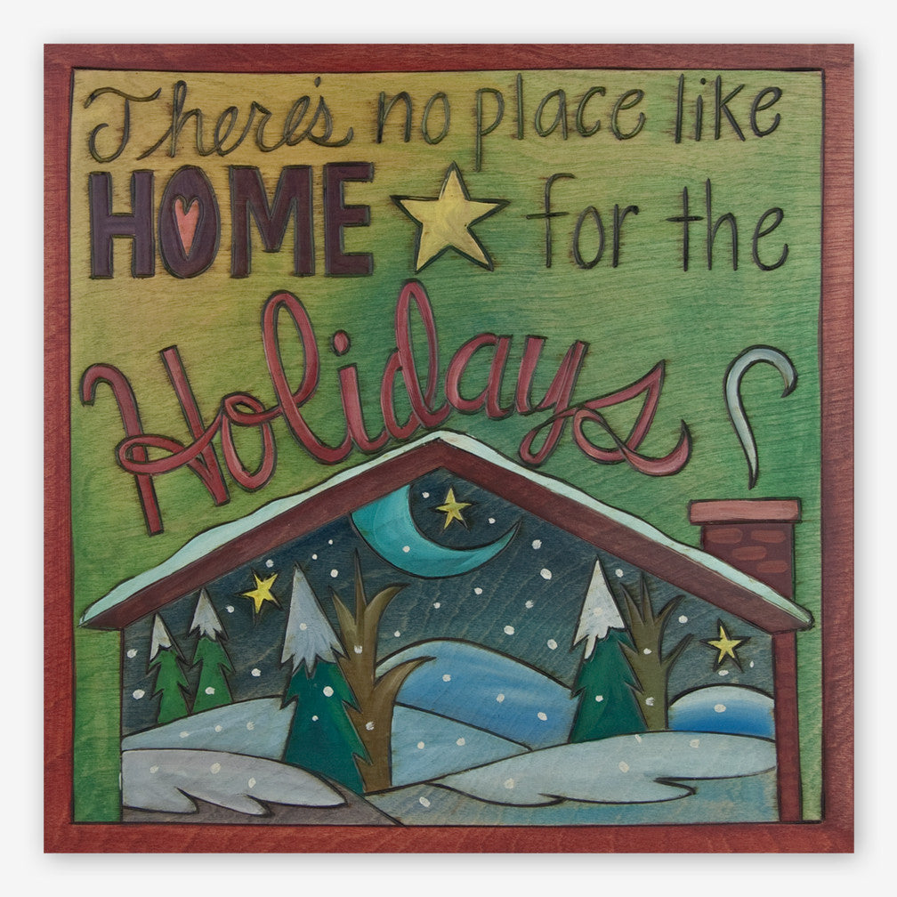 Sticks: Large Plaque: Home for the Holidays