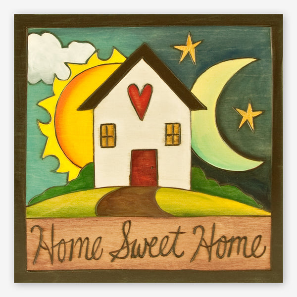 Sticks: Shaped Plaque: Home Sweet Home