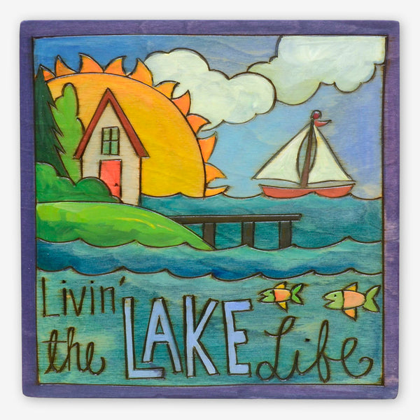 Sticks: Small Plaque: Livin' the Lake Life