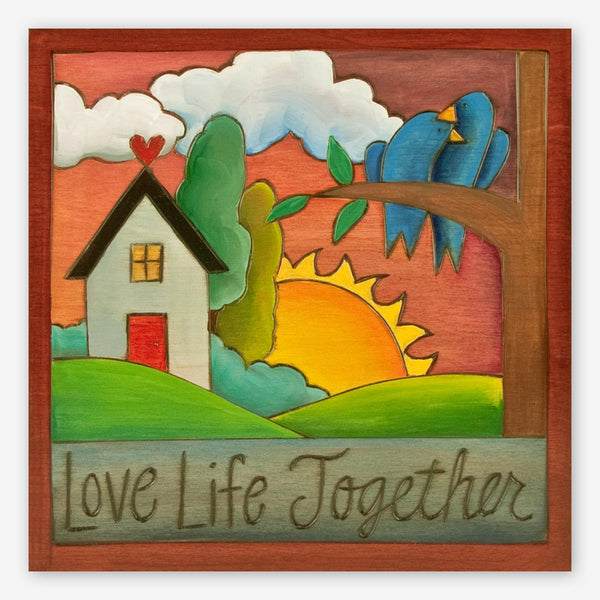 Sticks: Small Plaque: Love Life Together