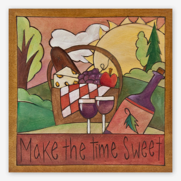 Sticks: Small Plaque: Make the Time Sweet