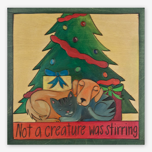 Sticks: Large Plaque: Not a Creature Was Stirring