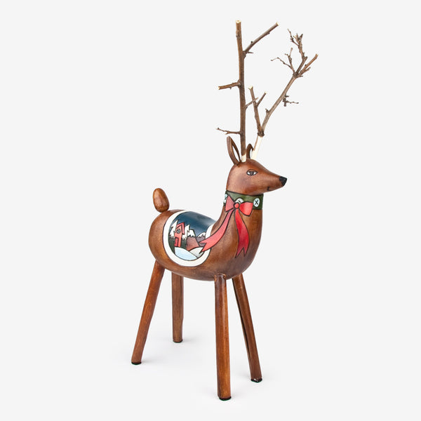 Sticks: Red Ribbon Raindeer
