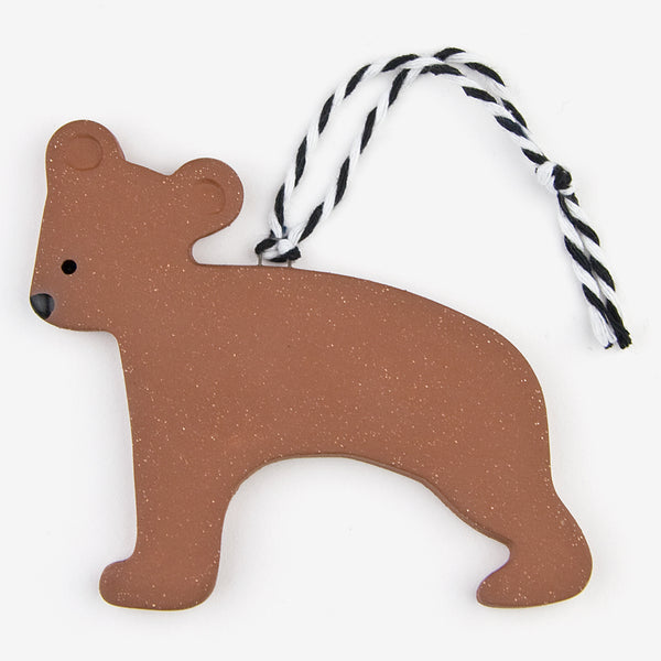 Tasha McKelvey: Ceramic Bear Ornament