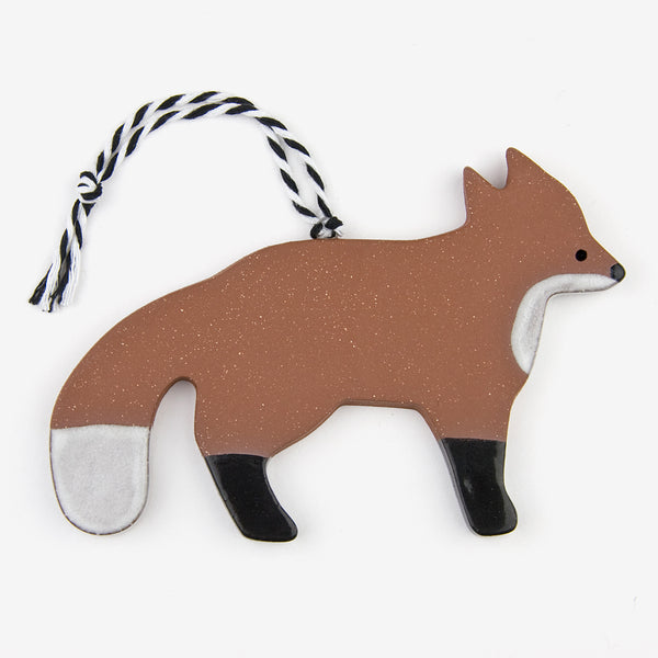 Tasha McKelvey: Ceramic Fox Ornament