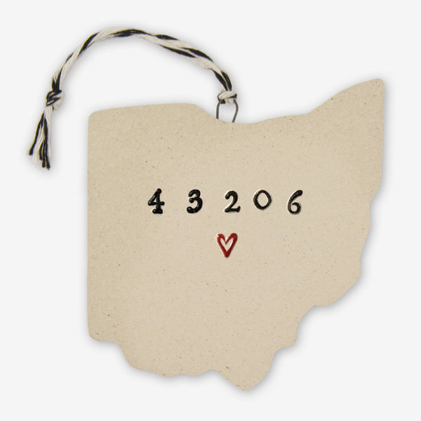 Tasha McKelvey: Ceramic Ohio 43206 Ornament