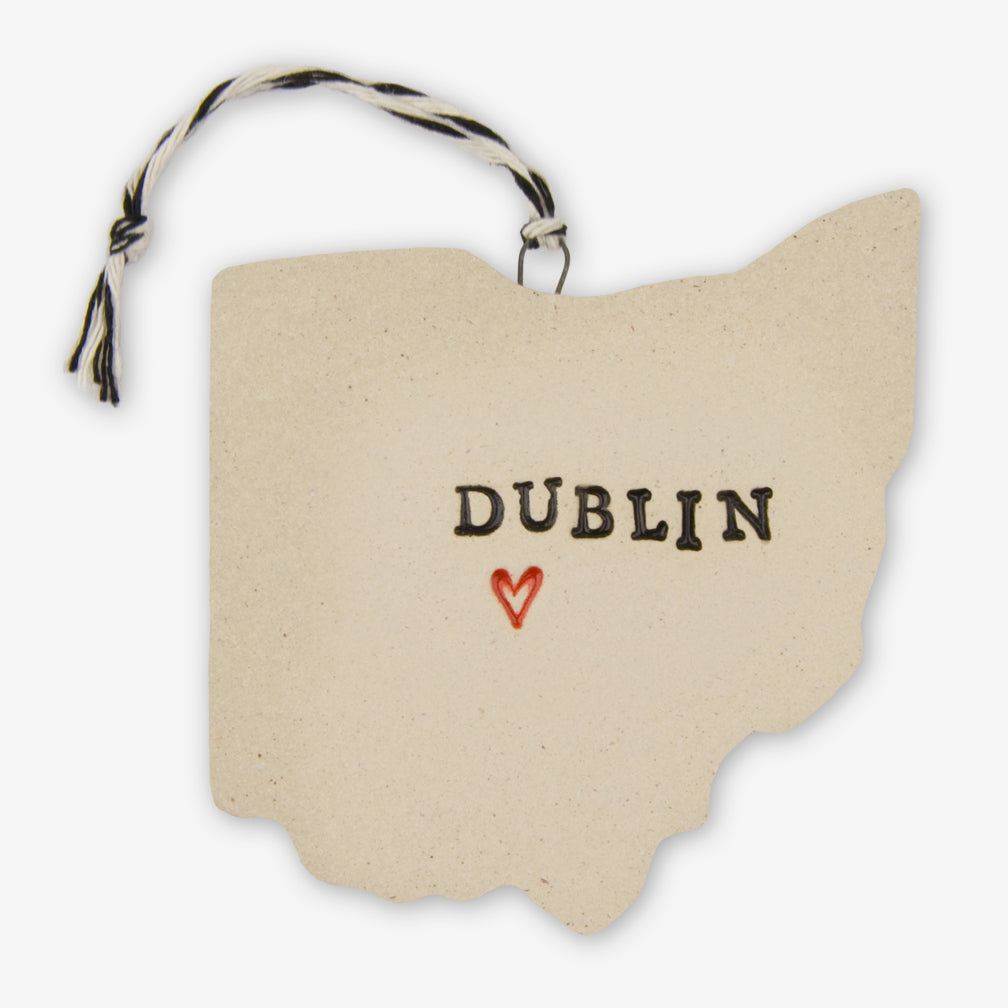 Tasha McKelvey: Ceramic Dublin, Ohio Ornament