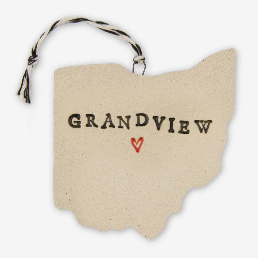Tasha McKelvey: Ceramic Grandview, Ohio Ornament