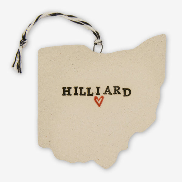 Tasha McKelvey: Ceramic Hilliard, Ohio Ornament