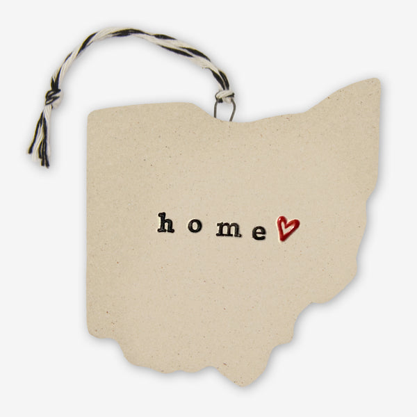 Tasha McKelvey: Ceramic Ohio Home Ornament