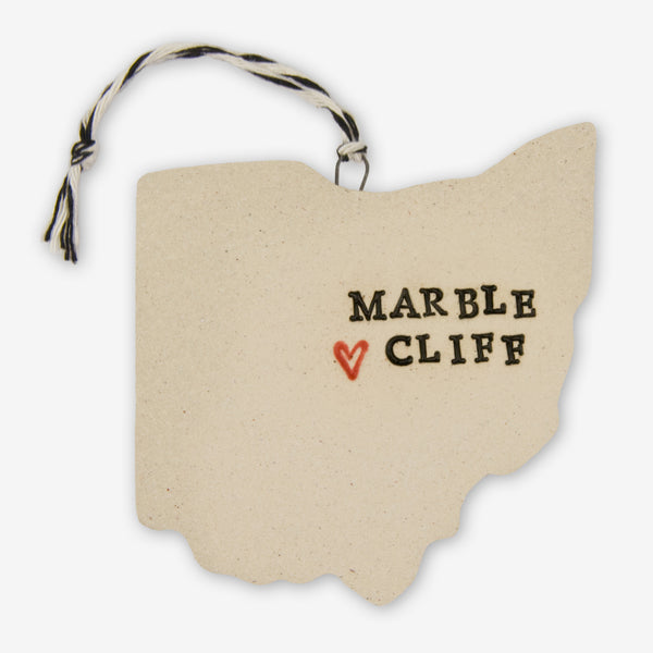 Tasha McKelvey: Ceramic Marble Cliff, Ohio Ornament