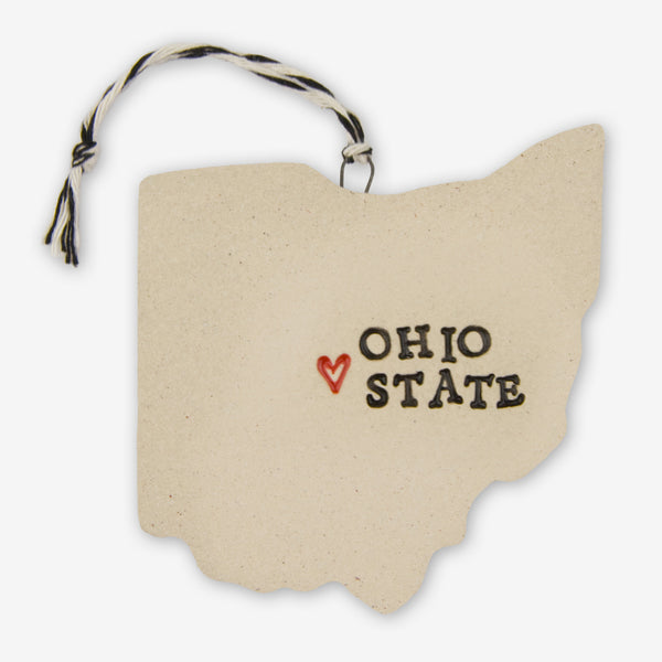 Tasha McKelvey: Ceramic Ohio State Ornament