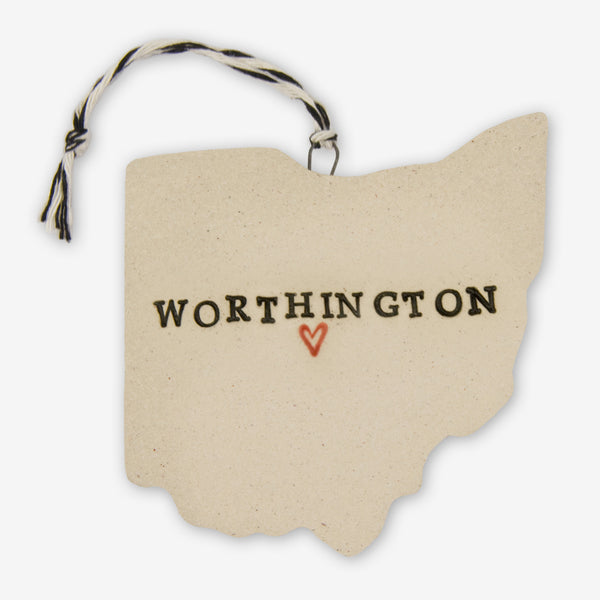 Tasha McKelvey: Ceramic Worthington, Ohio Ornament