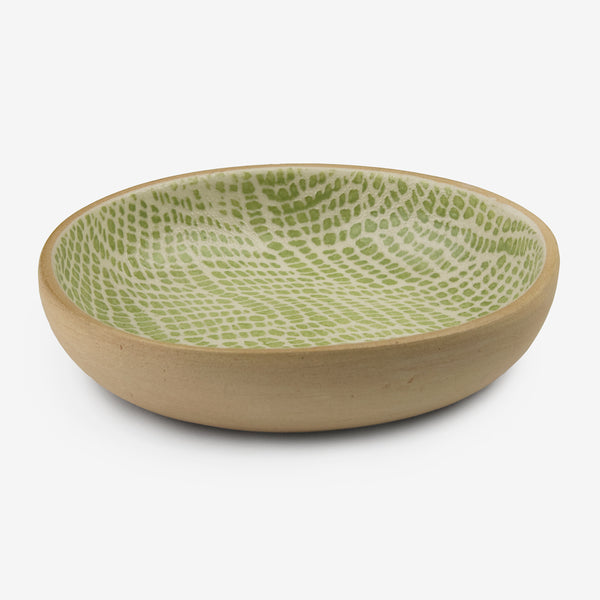 Terrafirma Ceramics: Fruit Dessert Bowl: Braid Citrus