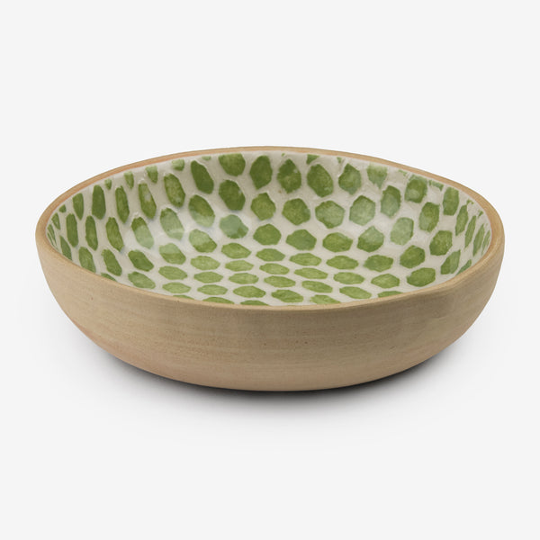 Terrafirma Ceramics: Fruit Dessert Bowl: Dot Citrus