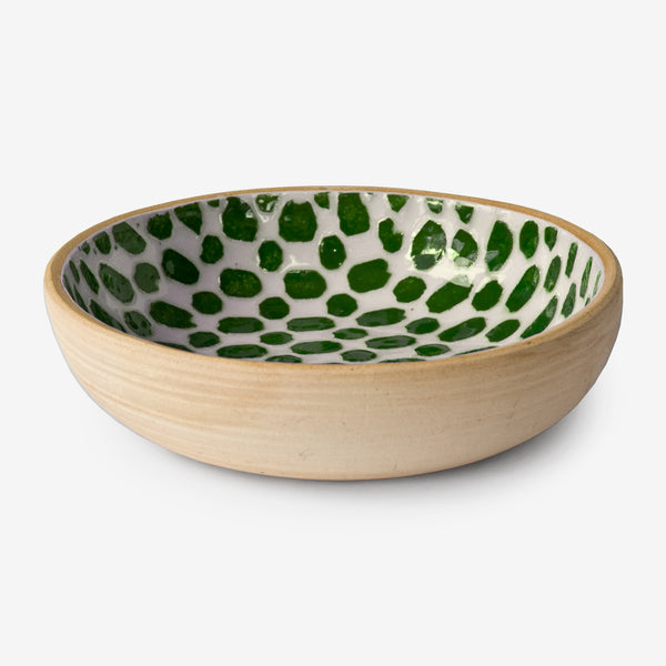 Terrafirma Ceramics: Fruit Dessert Bowl: Dot Pine