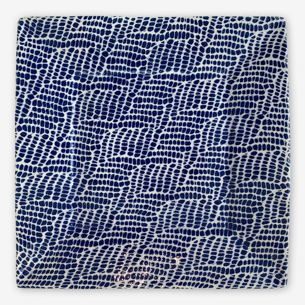 Terrafirma Ceramics: Large Cheese Tray: Braid Cobalt