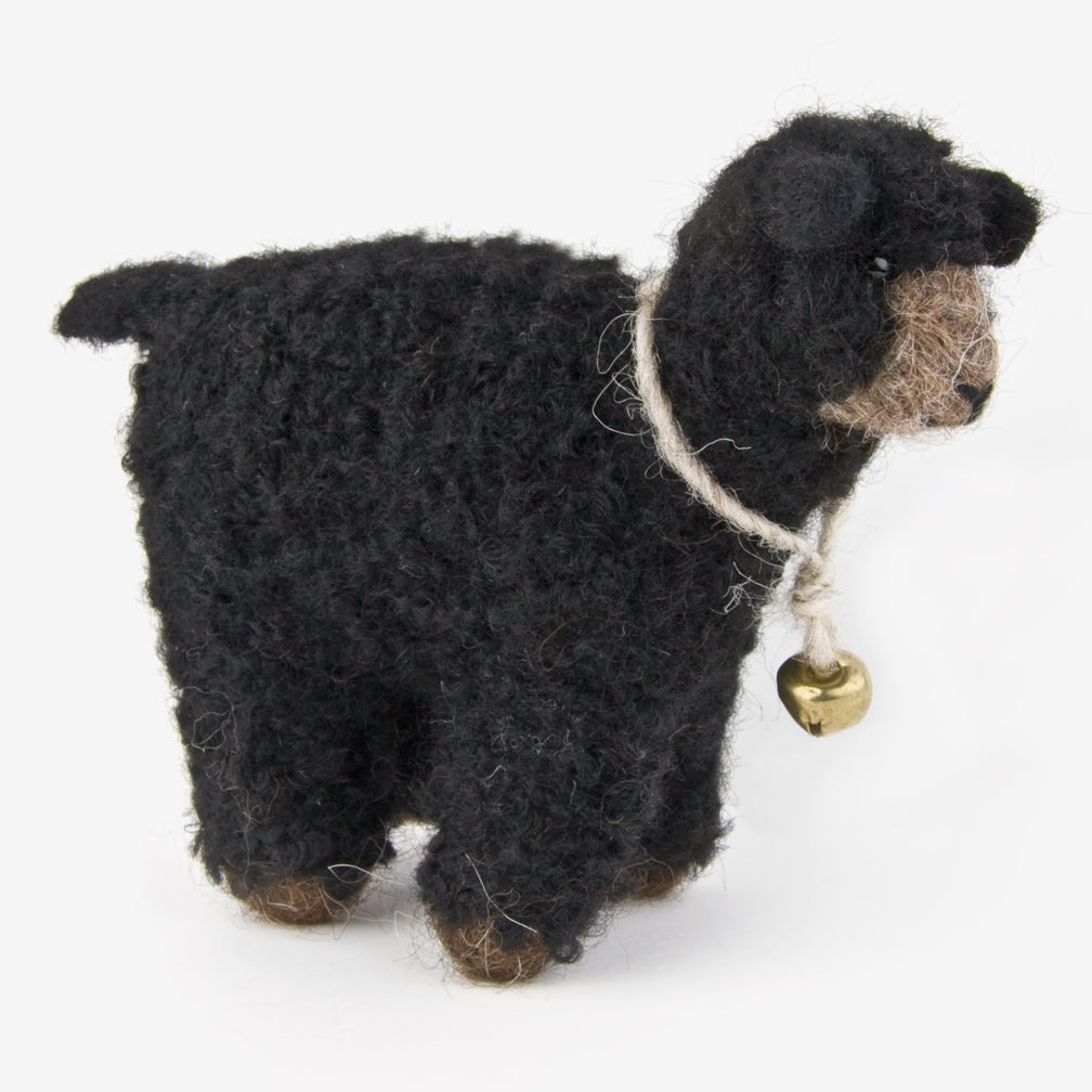 The Au Gres Sheep Factory: Needlefelt Ornaments: Bouncie Lamb