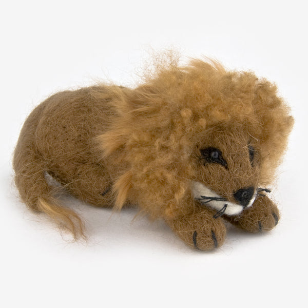 The Au Gres Sheep Factory: Needlefelt Ornaments: Lion