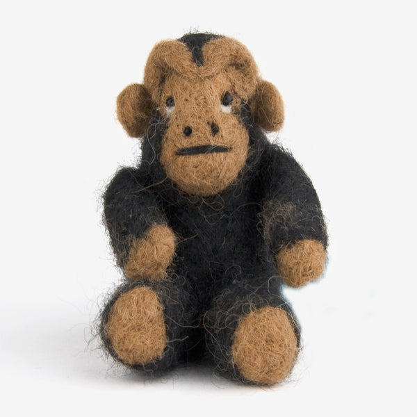 The Au Gres Sheep Factory: Needlefelt Ornaments: Monkey