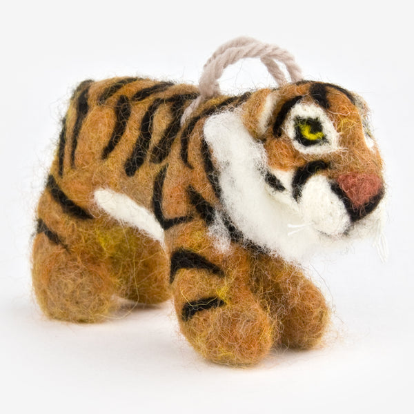 The Au Gres Sheep Factory: Needlefelt Ornaments: Tiger