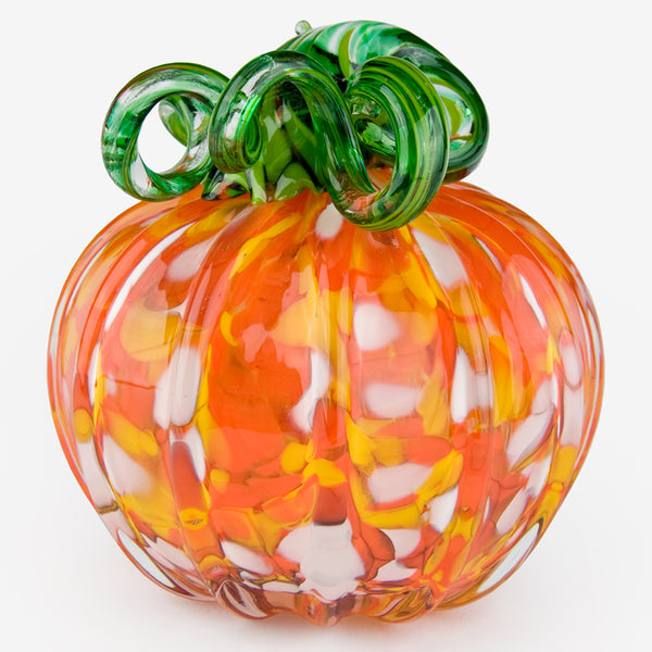 The Glass Forge: Large Pumpkin: Candy Corn