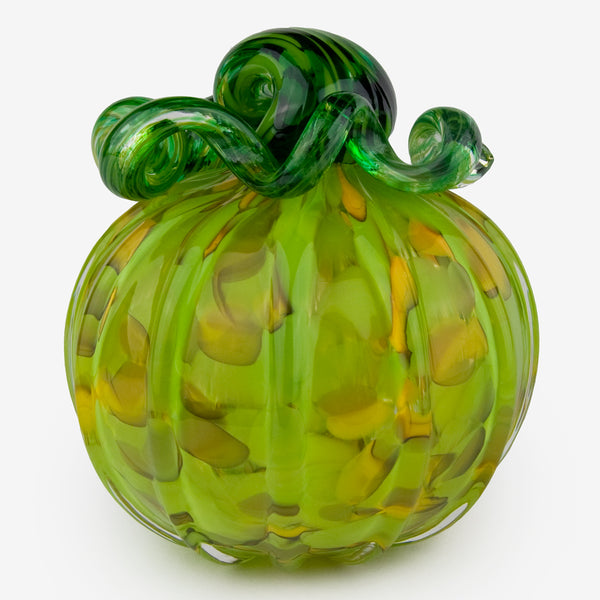 The Glass Forge: Large Pumpkin: Green Yellow