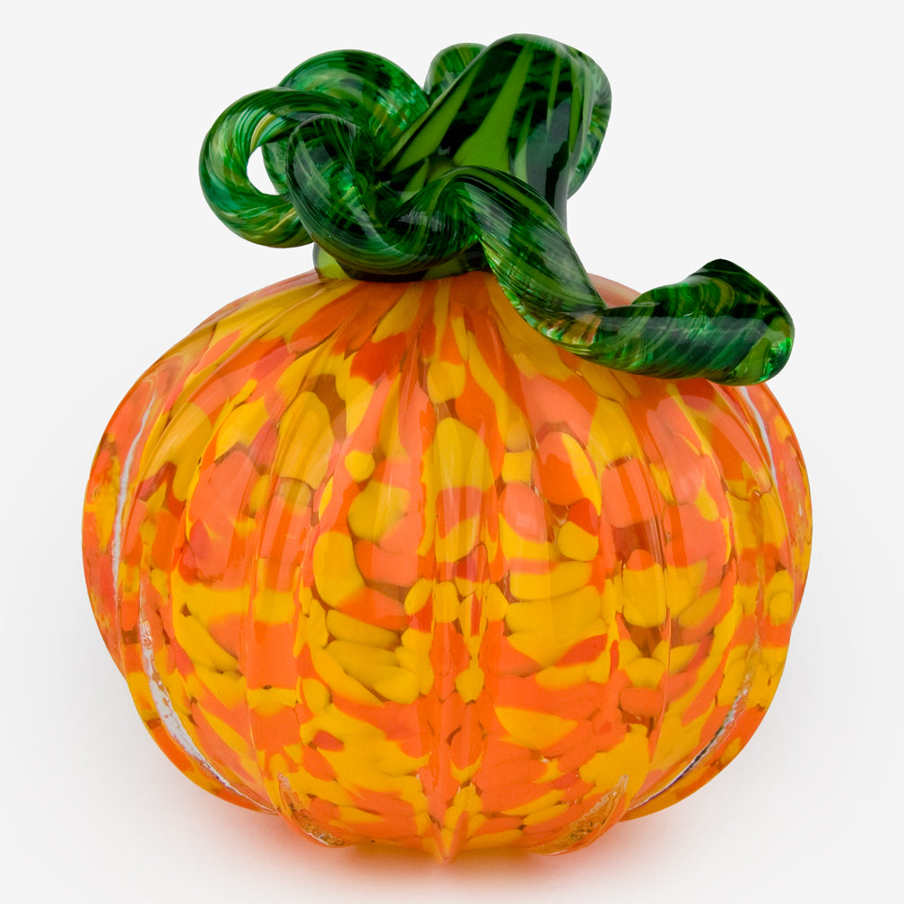 The Glass Forge: Large Pumpkin: Yellow Orange