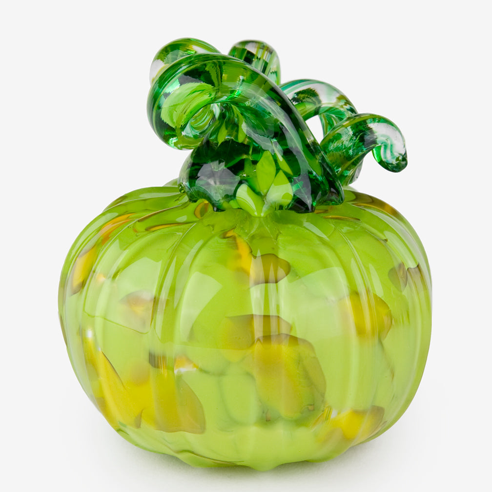 The Glass Forge: Medium Pumpkin: Green Yellow