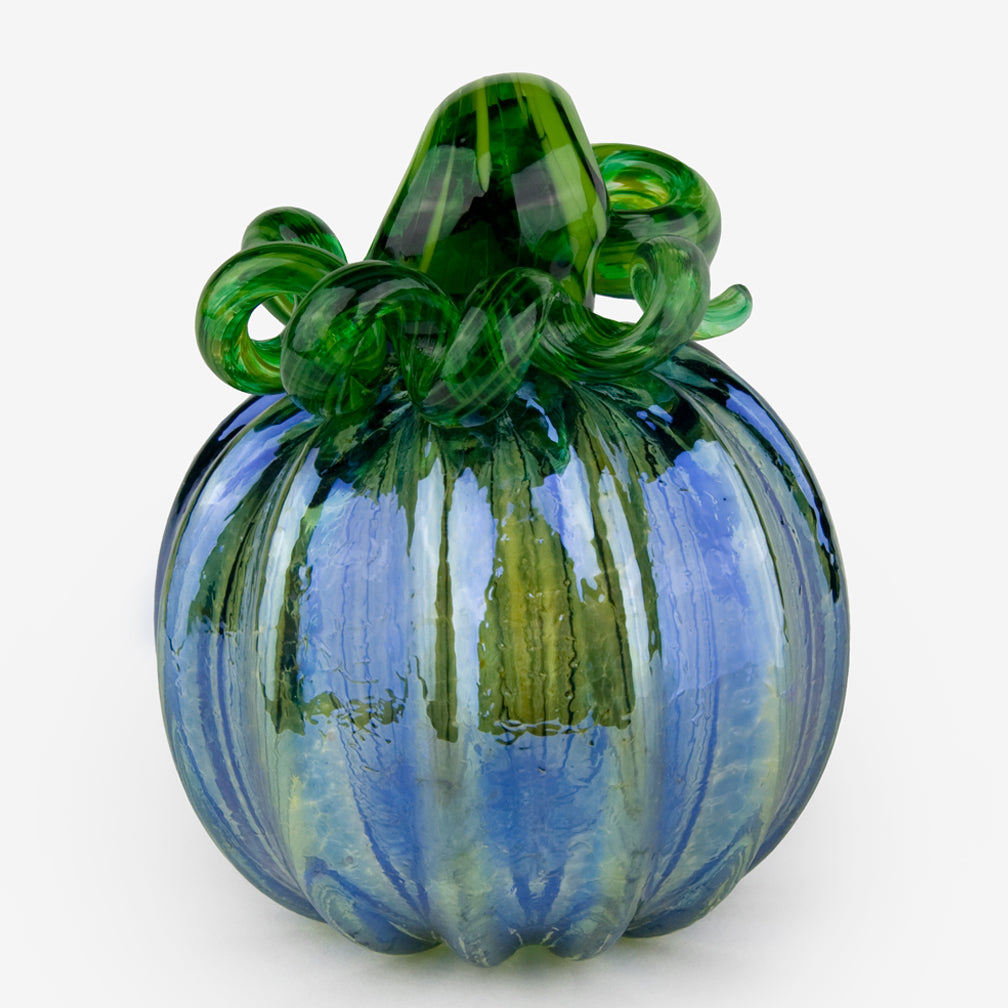 The Glass Forge: Medium Pumpkin: Silver Blue