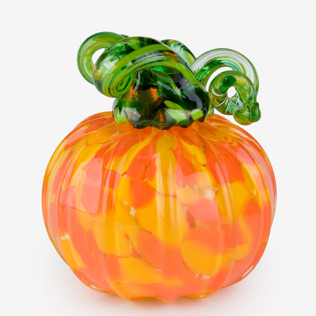 The Glass Forge: Medium Pumpkin: Yellow Orange