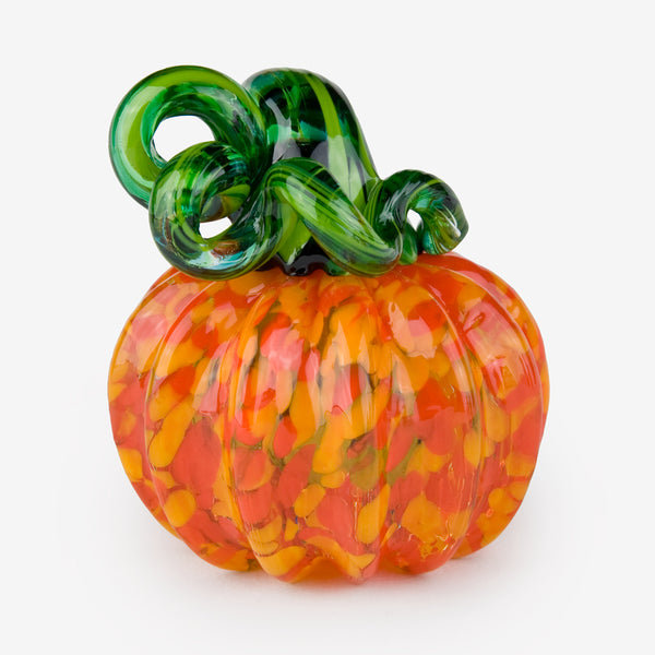 The Glass Forge: Small Pumpkin: Yellow Orange