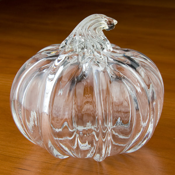 Tucker Glass and Design: Large Pumpkin: Clear